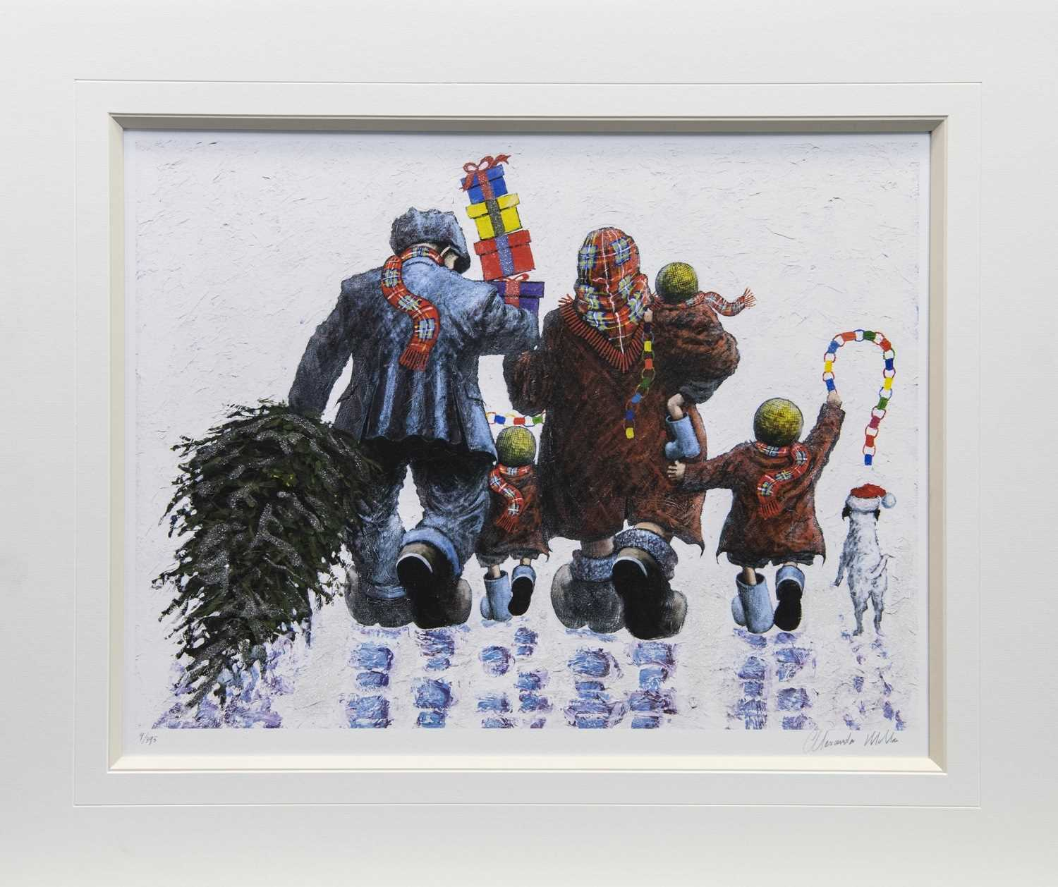 Lot 19 - IT'S CHRISTMAS TIME, A GICLEE PRINT BY ALEXANDER MILLAR