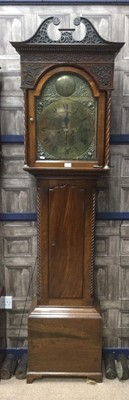 Lot 1704 - AN EARLY 19TH CENTURY MAHOGANY LONGCASE CLOCK