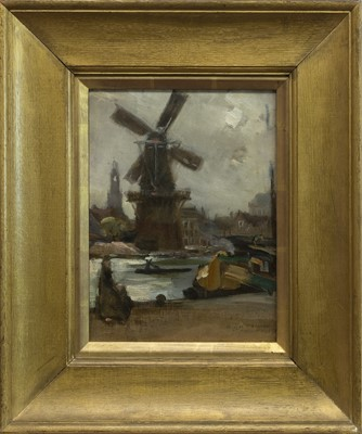 Lot 85 - HARLEM, AN OIL BY DOUGLAS STRACHAN