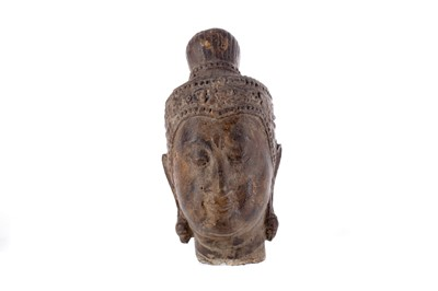 Lot 740 - AN EASTERN CAST METAL BUDDHA HEAD