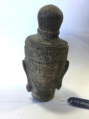 Lot 740 - AN EASTERN CAST METAL BUDDHA HEAD