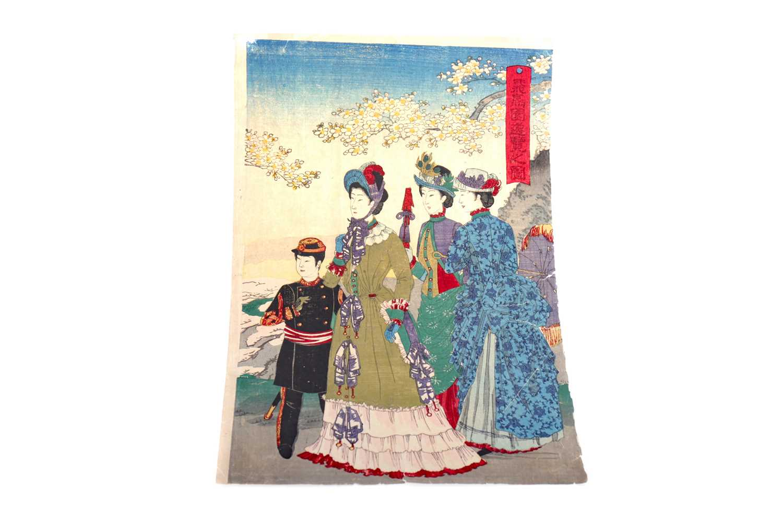 Lot 743 - A  JAPANESE WOODBLOCK PRINT BY KOBAYASHI KIYOCHIKA