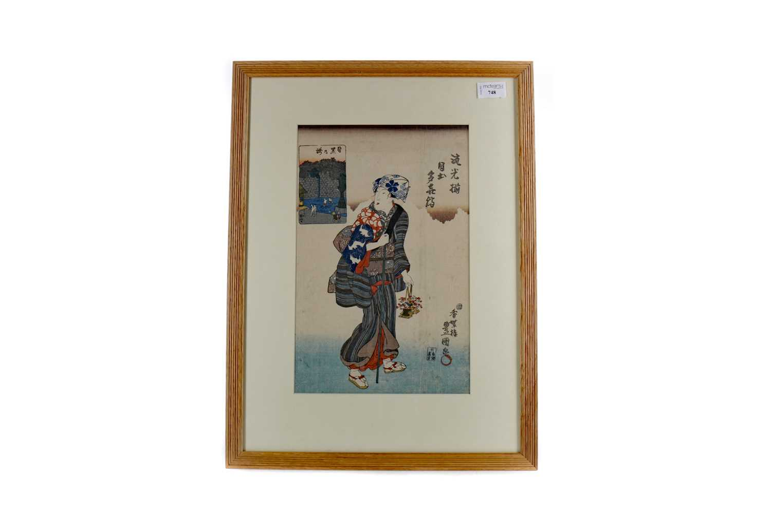 Lot 748 - A JAPANESE WOODBLOCK PRINT