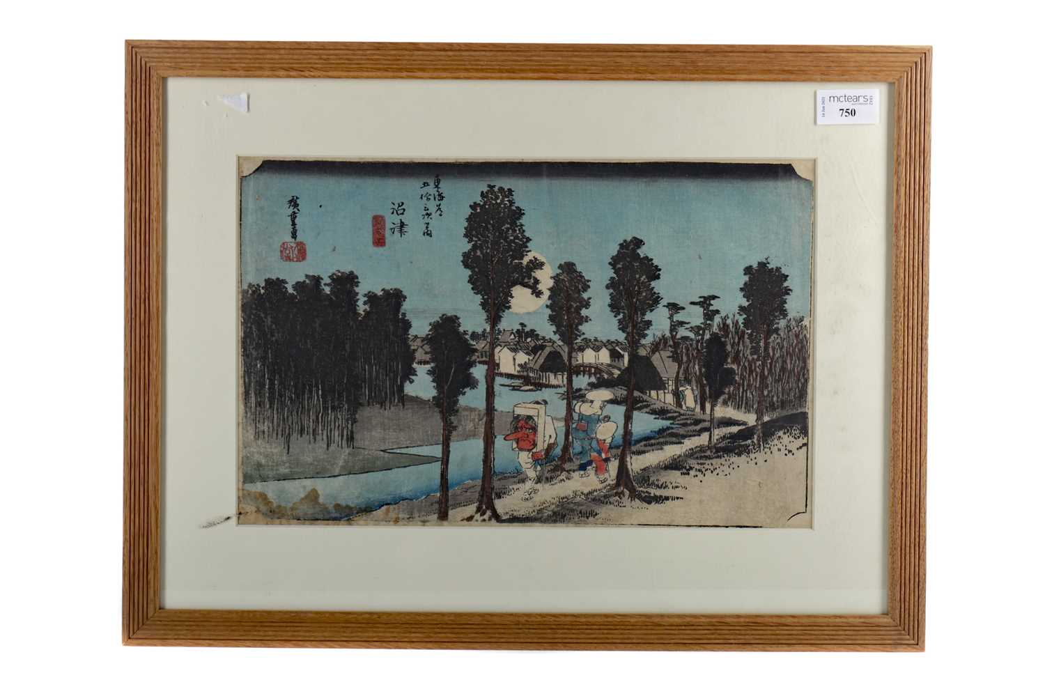 Lot 750 - A JAPANESE WOODBLOCK PRINT