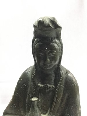 Lot 752 - AN EASTERN BRONZE FIGURE OF GUANYIN