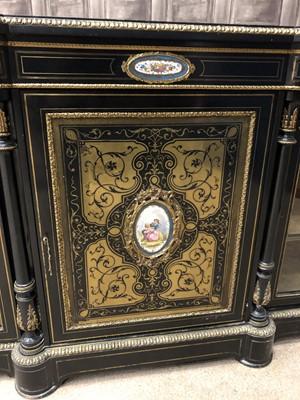 Lot 1674 - AN IMPRESSIVE VICTORIAN BOULLE CREDENZA