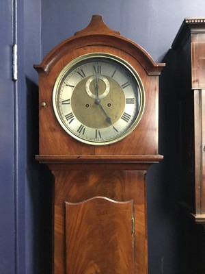 Lot 1707 - A 19TH CENTURY MAHOGANY LONGCASE CLOCK