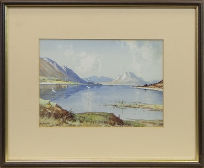 Lot 73 - LOCH TORNISH, A WATERCOLOUR BY TOM CAMPBELL