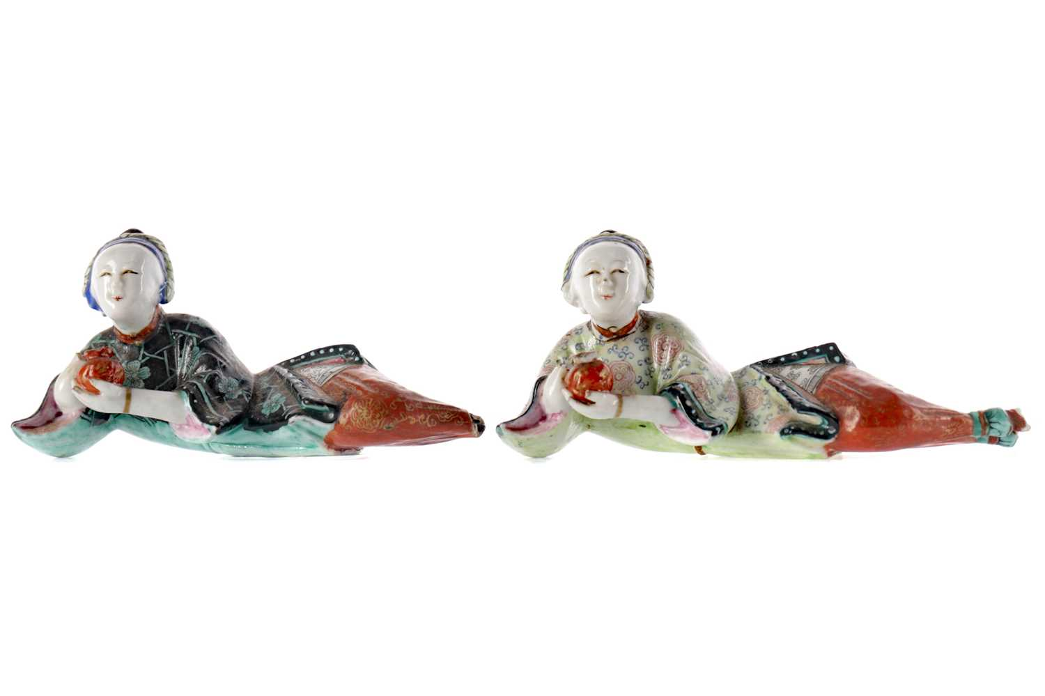 Lot 757 - A LOT OF TWO EARLY 20TH CENTURY CHINESE CERAMIC FIGURES