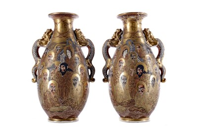 Lot 759 - A PAIR OF EARLY 20TH CENTURY JAPANESE VASES