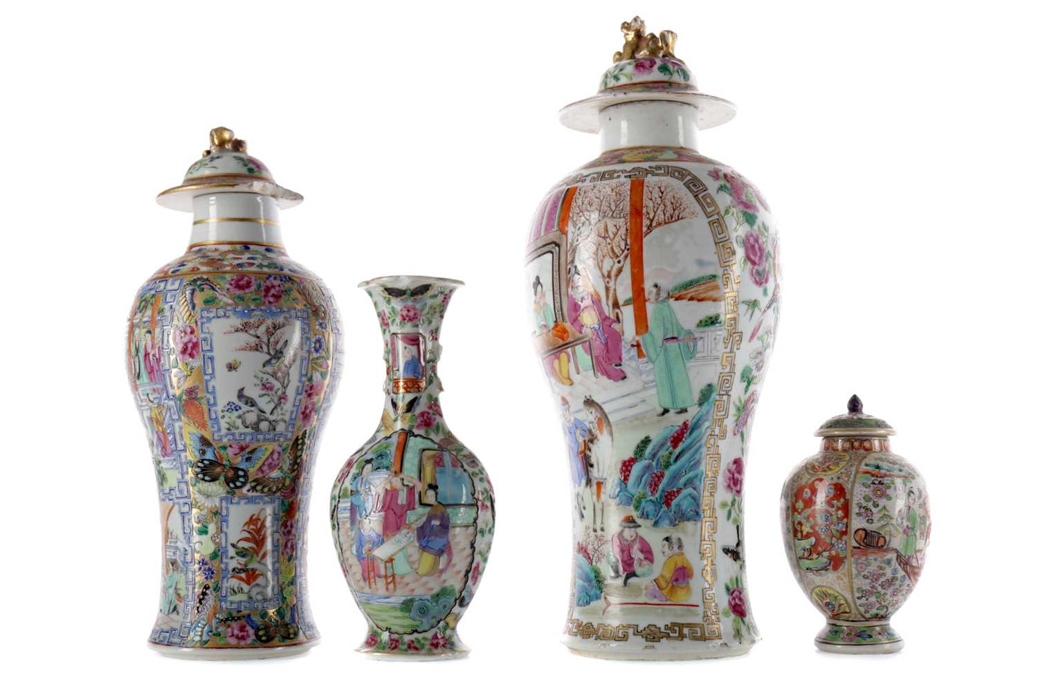 Lot 760 - A LOT OF CHINESE FAMILLE ROSE VASES