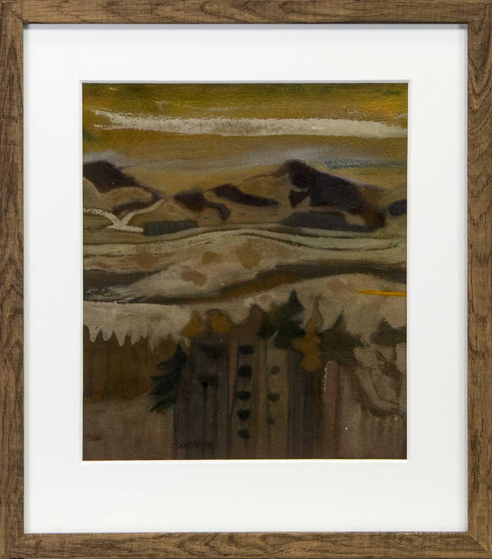 Lot 66 - AUTUMN LANDSCAPE, A MIXED MEDIA BY DAVID MCLEOD MARTIN