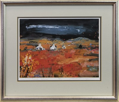 Lot 72 - CARBOST FARMS, SKYE, A SIGNED LTD EDITION LITHOGRAPH BY HAMISH MACDONALD