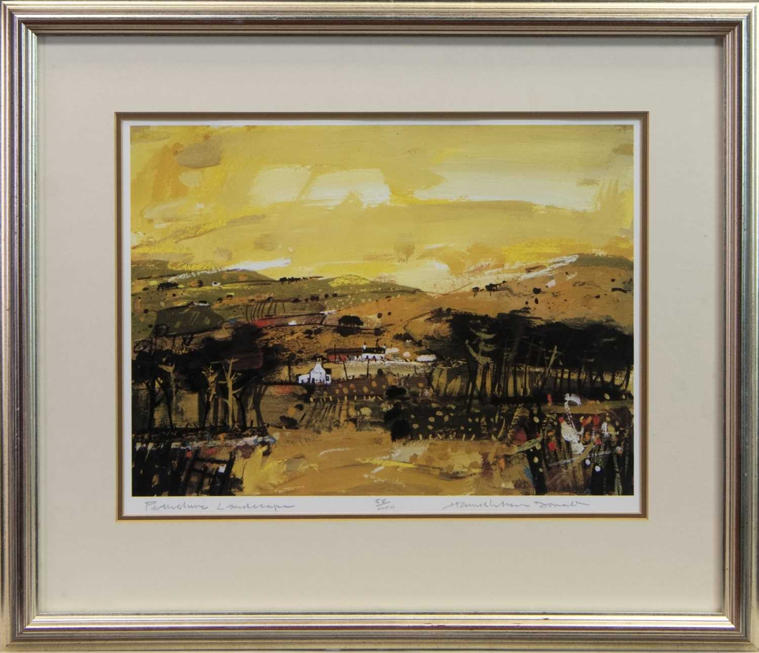 Lot 112 - PERTHSHIRE LANDSCAPE, A SIGNED LTD EDITION LITHOGRAPH BY HAMISH MACDONALD