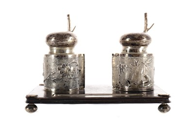Lot 785 - A CHINESE INKSTAND