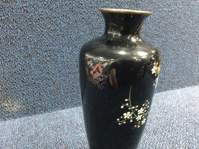 Lot 797 - A PAIR OF EARLY 20TH CENTURY JAPANESE CLOISONNE ENAMEL VASES