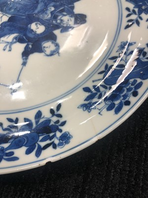 Lot 800 - A LOT OF TWO 19TH CENTURY CHINESE PORCELAIN CIRCULAR PLATES