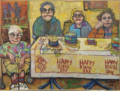 Lot 86 - HAPPY BIRTHDAY, AN OIL BY STEVEN MCCOWAN
