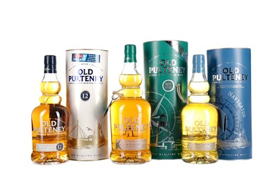 Lot 14 - OLD PULTENEY DUNNET HEAD, NAVIGATOR AND 12 YEARS OLD