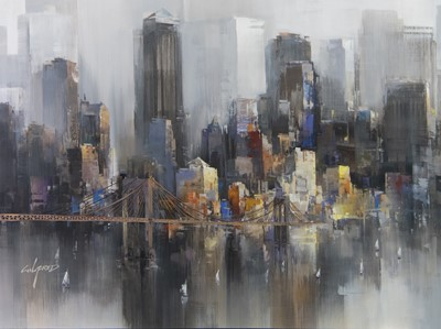 Lot 104 - NEW YORK CROSSIN, A GICLEE PRINT BY WILFRED LANG