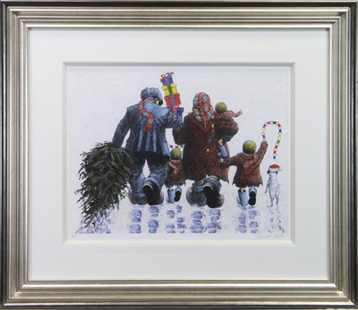 Lot 137 - IT'S CHRISTMAS TIME, A GICLEE PRINT BY ALEXANDER MILLAR