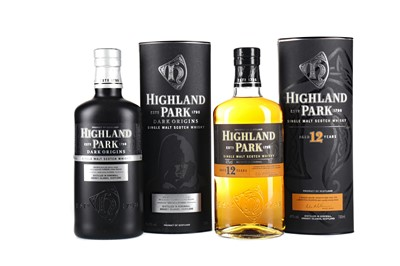 Lot 41 - HIGHLAND PARK DARK ORIGINS AND 12 YEARS OLD