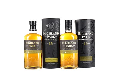 Lot 47 - TWO BOTTLES OF HIGHLAND PARK AGED 15 YEARS
