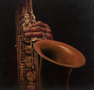 Lot 176 - SAXOPHONE, A CONTEMPORARY SCHOOL OIL