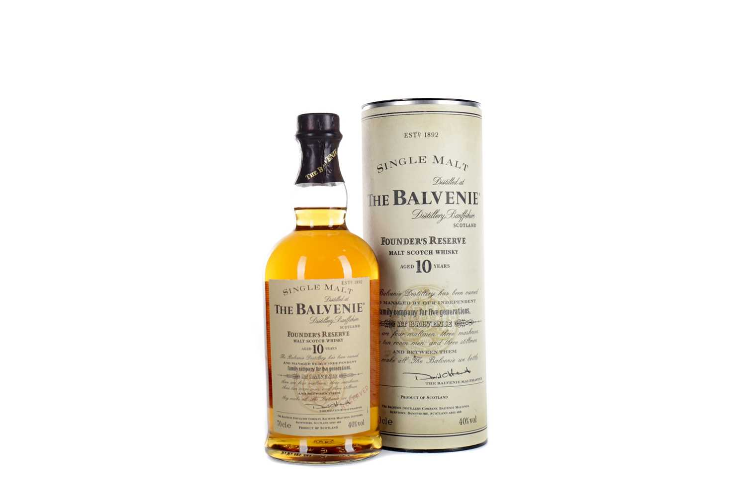 Lot 19 - BALVENIE FOUNDER'S RESERVE AGED 10 YEARS