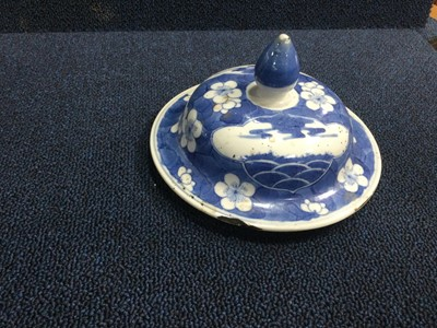 Lot 827 - A 19TH CENTURY CHINESE BLUE & WHITE GINGER JAR