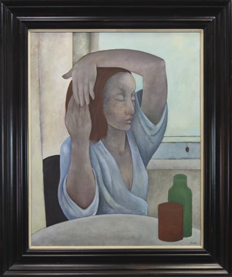 Lot 71 - MORNING RITUAL, AN OIL BY MICHAEL SCOTT