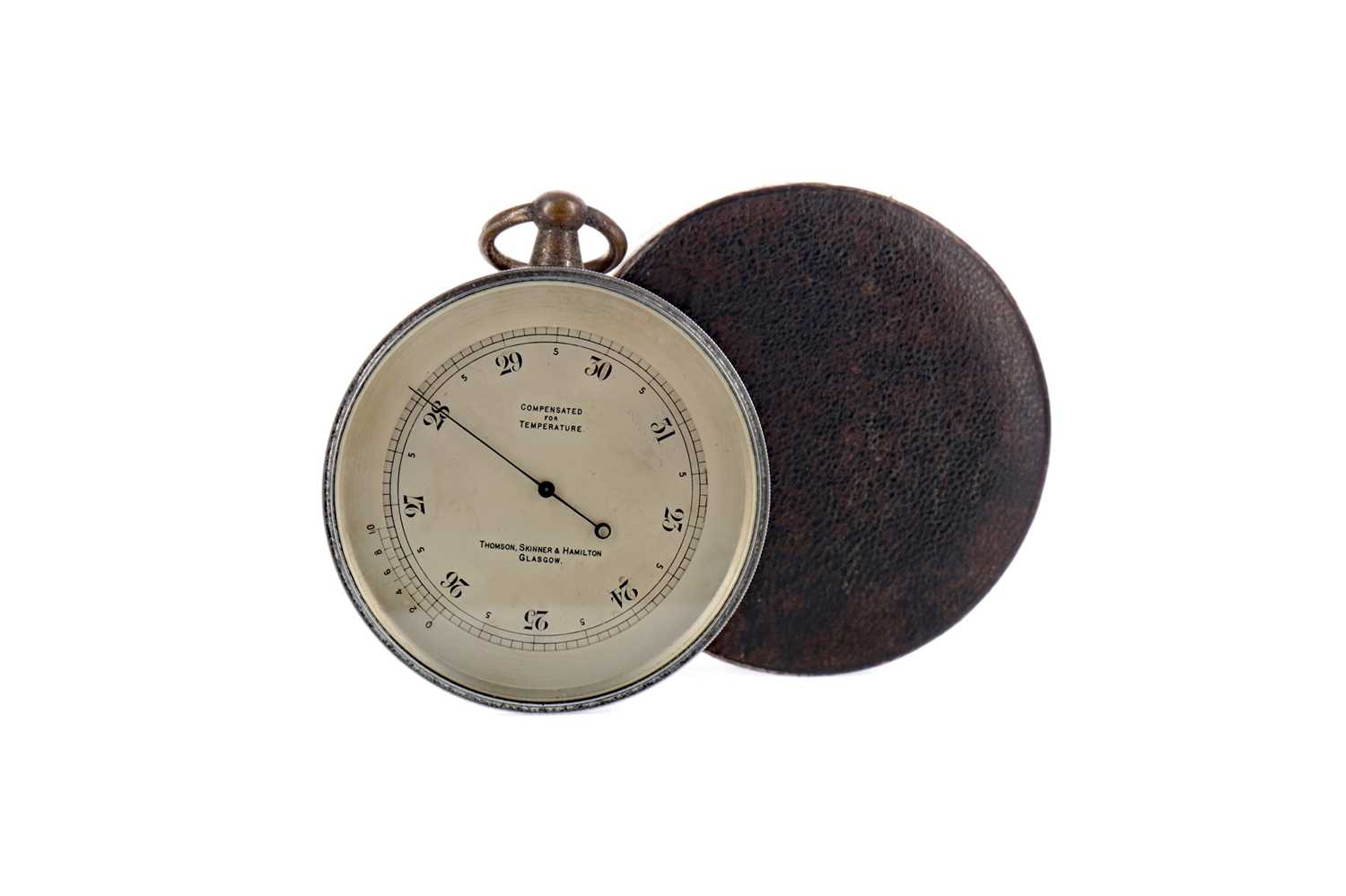 Lot 1708 - AN EARLY 20TH CENTURY TRAVEL BAROMETER