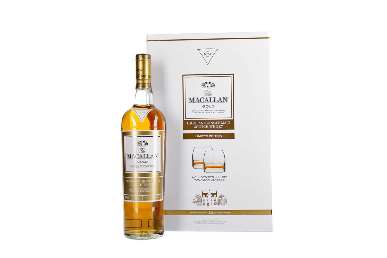 Lot 23 - MACALLAN GOLD GLASS SET
