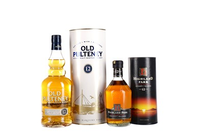 Lot 29 - ONE BOTTLES OF OLD PULTENEY AGED 12 YEARS AND A HALF BOTTLE OF HIGHLAND PARK AGED 12 YEARS