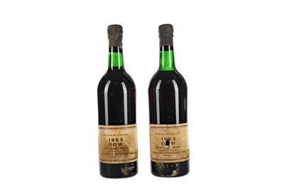 Lot 35 - TWO BOTTLES OF DOW'S 1963 VINTAGE PORT