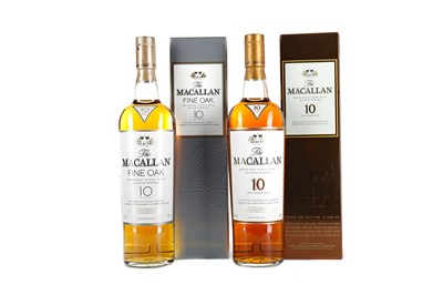 Lot 56 - MACALLAN 10 YEARS OLD AND FINE OAK 10 YEARS OLD