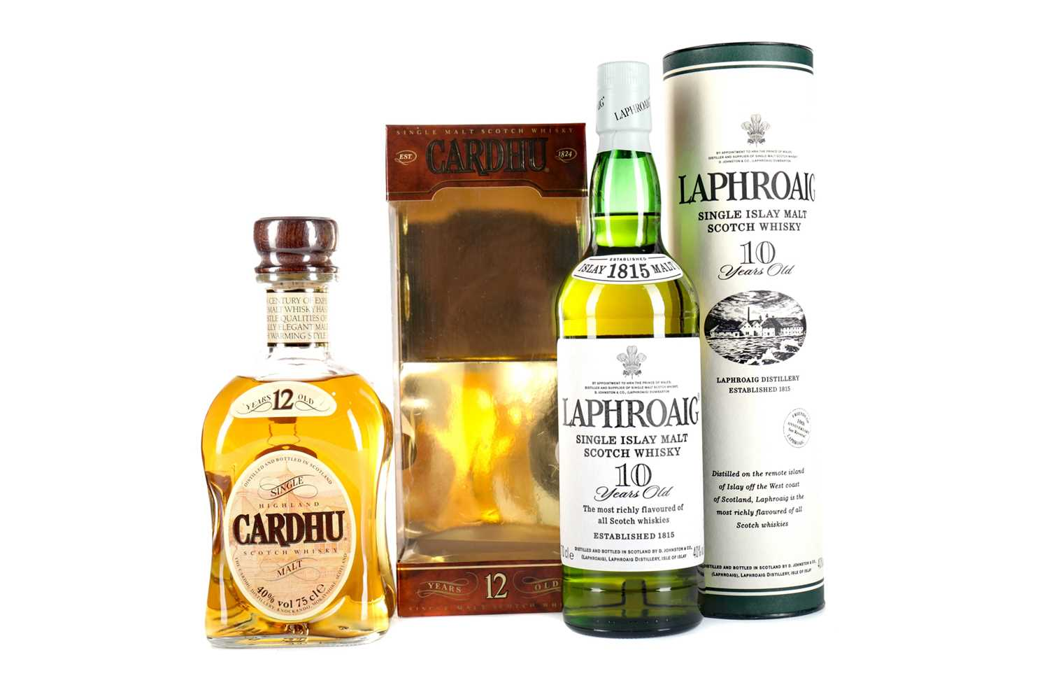Lot 60 - LAPHROAIG 10 YEARS OLD AND CARDHU 12 YEARS OLD