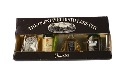 Lot 63 - FOUR BOTTLES OF BLENDED WHISKY AND FOUR MINIATURES
