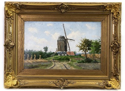Lot 53 - WINDMILL IN HARVEST, AN OIL BY VALENTIN CAMERON PRINCEP