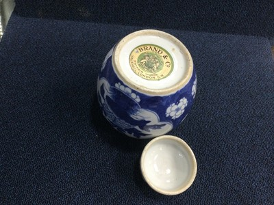 Lot 834 - AN EARLY 20TH CENTURY CHINESE GINGER JAR