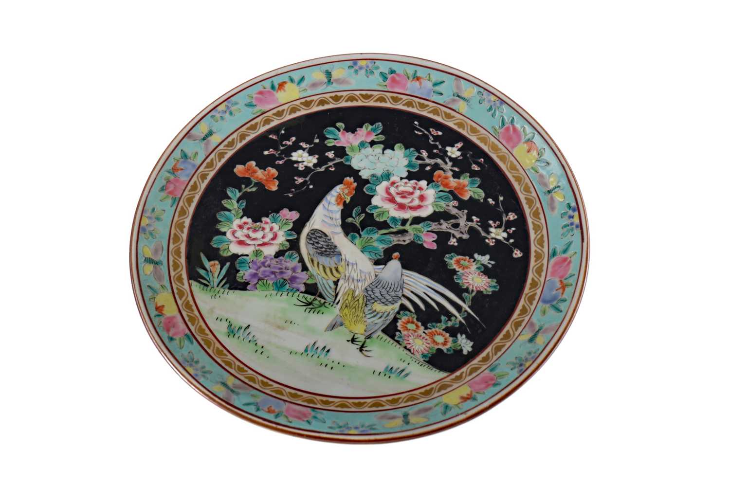 Lot 833 - AN EARLY 20TH CENTURY CHINESE CIRCULAR PLAQUE