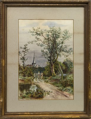 Lot 406 - AT THE GATE, A WATERCOLOUR BY H B STURROCK