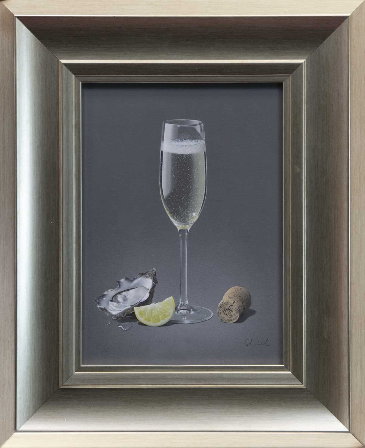 Lot 69 - CHAMPAGNE & OYSTER, A GICLEE PRINT BY COLIN WILSON