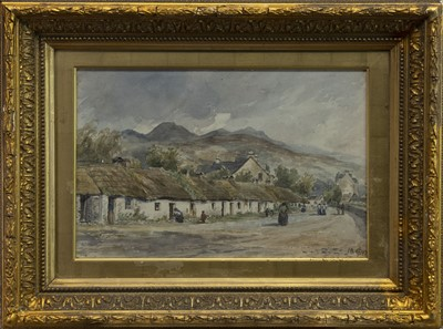 Lot 413 - VILLAGE STREET, A WATERCOLOUR BY CHARLES CAIRNCROSS