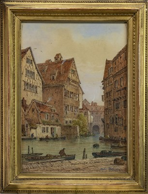 Lot 414 - ULM, GERMANY, A WATERCOLOUR BY ANDRI PINOLI