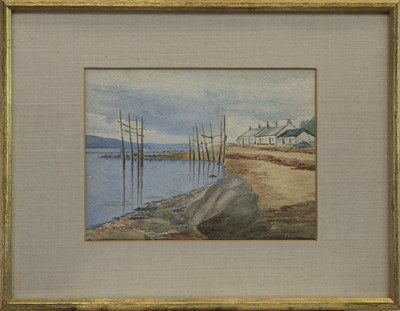Lot 415 - BLAIRS FERRY, ISLE OF BUTE, A WATERCOLOUR BY JOSEPH HENDERSON