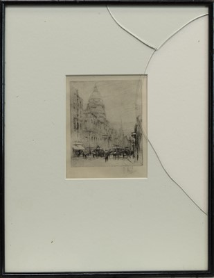 Lot 416 - SOUTH BRIDGE TO THE TRON, UNIVERSITY OF EDINBURGH, AN ETCHING BY WILLIAM WALCOT