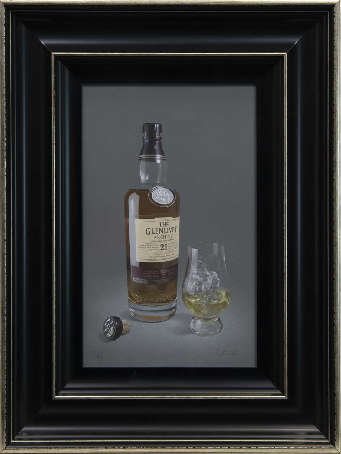 Lot 98 - 21 YEAR GLENLIVET, A GICLEE PRINT BY COLIN WILSON