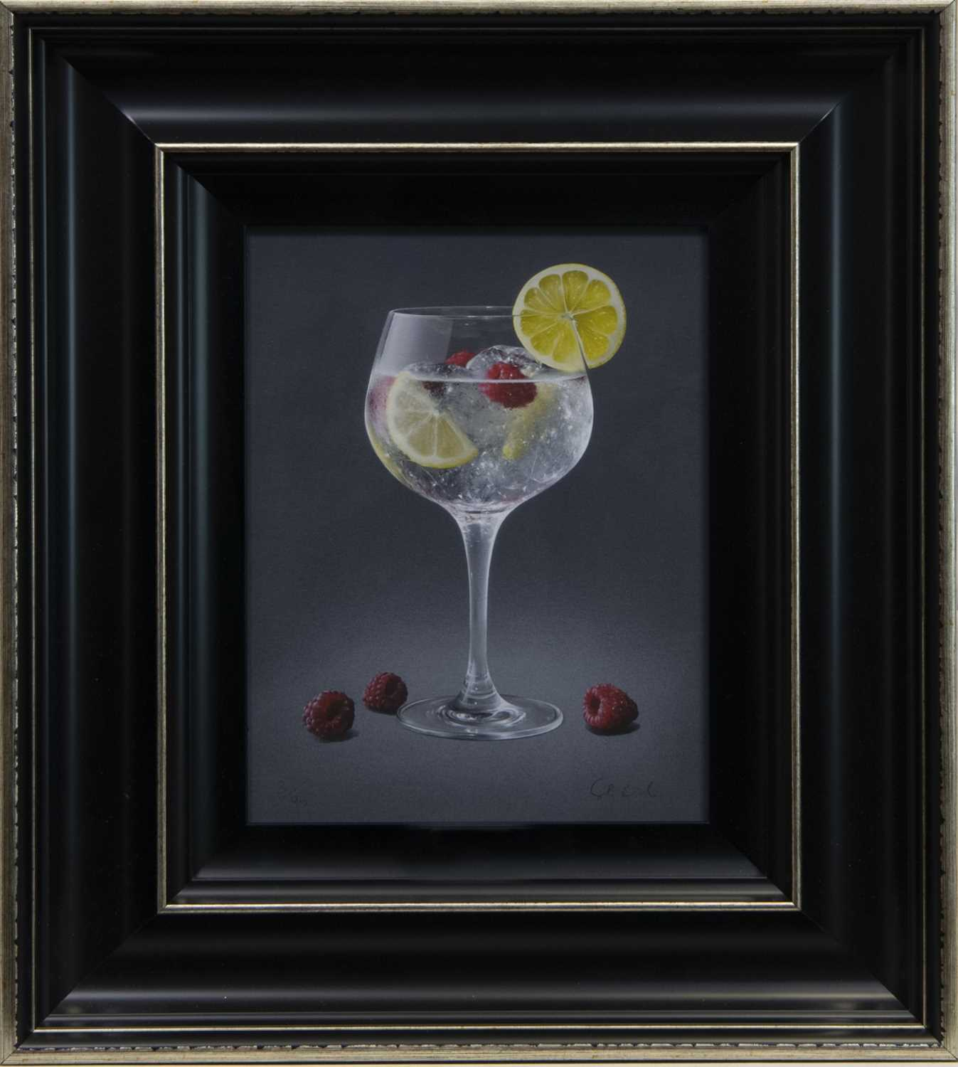 Lot 102 - ICED LEMON & RASPBERRIES, A PRINT BY COLIN WILSON