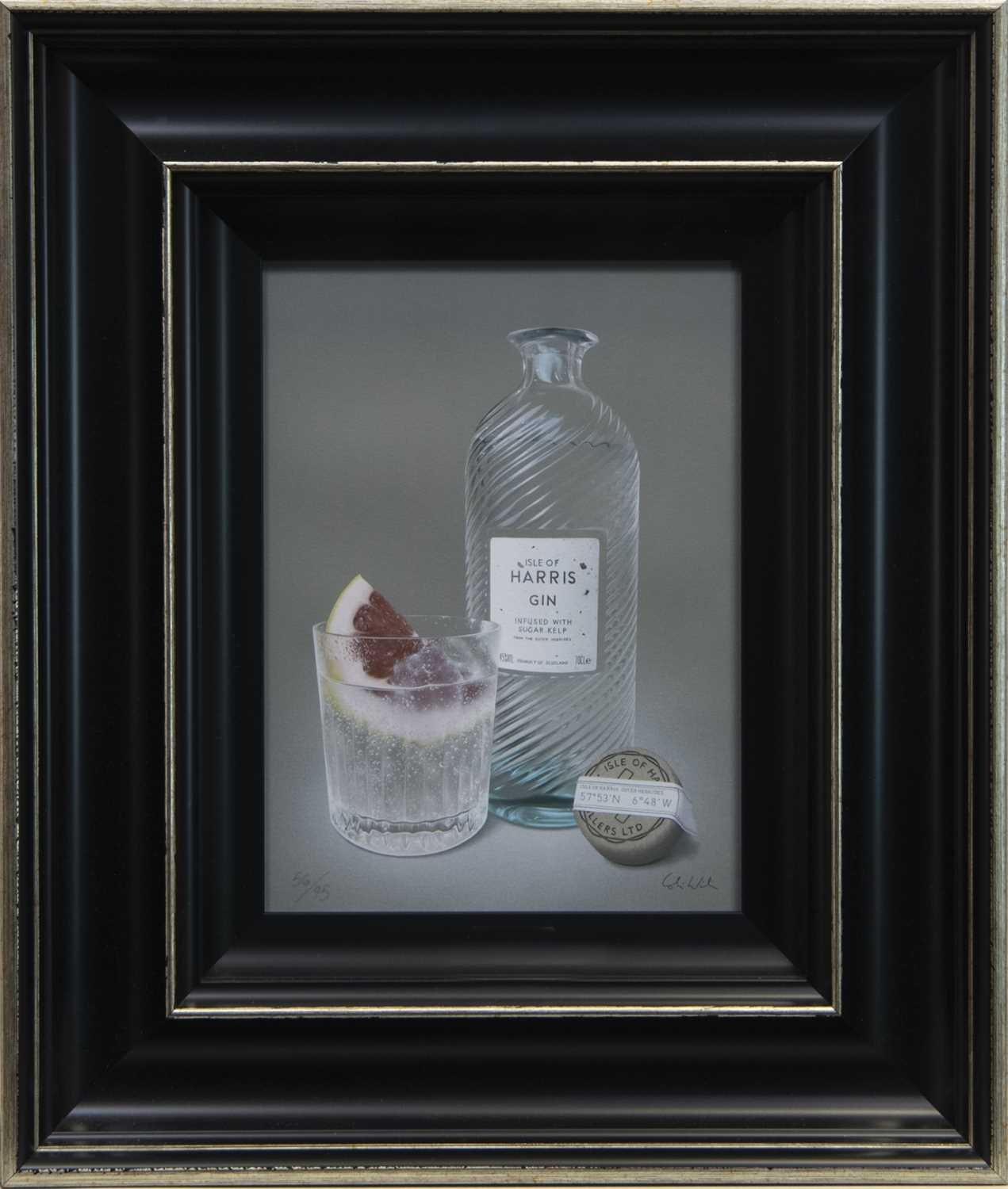 Lot 87 - GLORIOUS HARRIS GIN & GRAPEFRUIT, A GICLEE PRINT BY COLIN WILSON